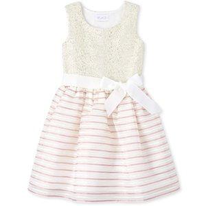NWT • Children's Place Striped Jacquard Dress
